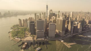 Lower Manhattan | New York City | 4K Aerial footage of the Lower Manhattan filmed from a helicopter.