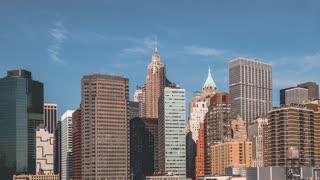 Lower Manhattan | New York City | 4K hyperlapse clip shot from Brooklyn Bridge in the morning.