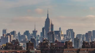 New York City midtown | The Empire State Building | 4K timelapse sequence shot Brooklyn Bridge.