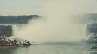 Niagara Falls, Canada, Video  - The falls at winter