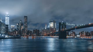 Night Hyperlapse from Brooklyn Bridge Park | 4K hyperlapse sequence of New York City at night shot in Brooklyn.