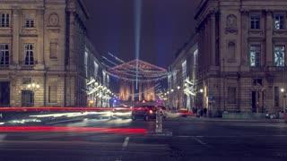 Paris - The 'Madeleine' Church by night 4K