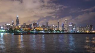 Skyline Night, IL, Chicago