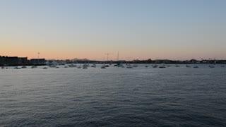 Sunset in Boston, MA