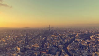 Sunset Over Paris, France