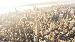 The Empire State Building (Wide angle) | New York City | Wide angle 4K clip filmed from a helicopter in New York City.