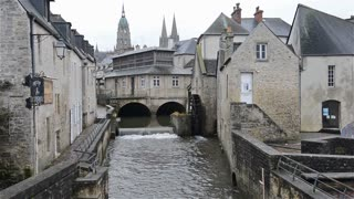The old town of Bayeux, Normandy, France