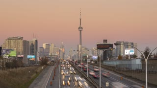 The Skyline of Toronto during the Sunset 4K