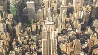 The top of the Empire State Building | New York City | 4K Aerial footage of the Empire State Building filmed from a helicopter.