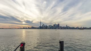 Timelapse from the ferry to Toronto