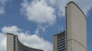 Timelapse/Hyperlapse of City Hall of Toronto