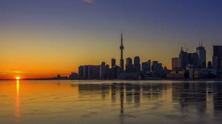 Timelapse of Toronto (during the Sunset)