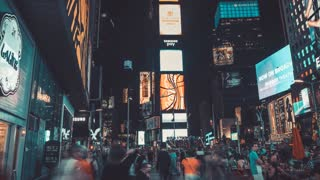 Times Square at Night | New York City | 4K hyperlapse shot at Night in New York City
