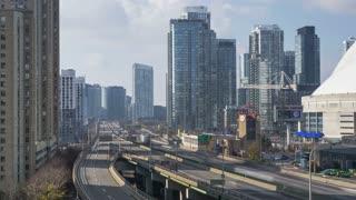 Toronto, ON, Canada - The Gardiner Expressway 4K