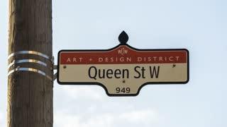 Toronto - Queen West Sign