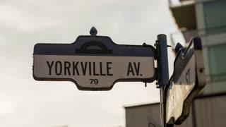 Toronto - Yorkville Street Sign