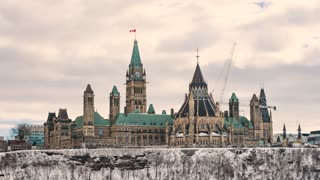 4K Timelapse Sequence of Ottawa, Canada - The Parliament of Canada