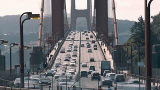 4K Timelapse Sequence of San Francisco, USA - Golden Gate car traffic