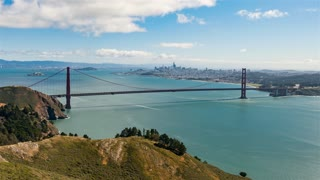 4K Timelapse Sequence of San Francisco, USA - The Golden Gate during the daytime