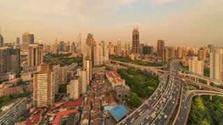 4K Timelapse Sequence of Shanghai, China - Nine Dragon Pillar Day to Night