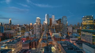 4K Timelapse Sequence of Toronto, Canada - Canada's largest city after Sunset