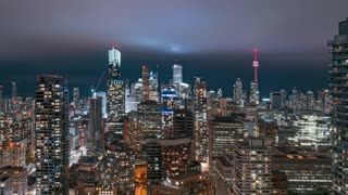 4K Timelapse Sequence of Toronto, Canada - Downtown Toronto at Night