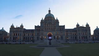 4K Video Sequence of Victoria, Canada - British Columbia Parliament Buildings