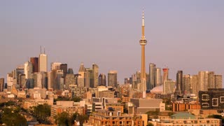Comp 3Close up sunset of Toronto s skyline from Queen Street West