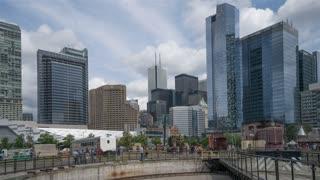 Toronto's financial district captured using the hyperlapse technic