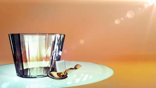 pour wine into glass animation