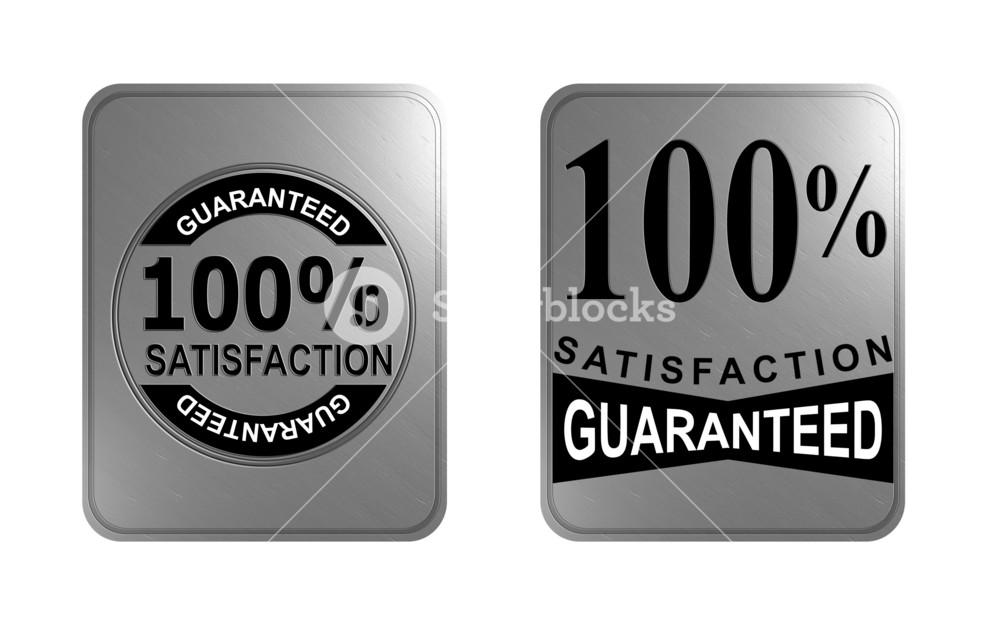 100% Satisfaction Guaranteed Gold Square Seal
