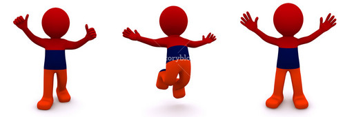 3d Character Textured With Flag Of Armenia
