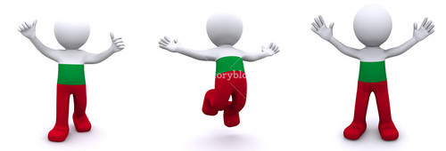 3d Character Textured With Flag Of Bulgaria