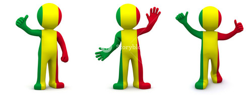 3d Character Textured With Flag Of Mali