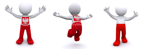3d Character Textured With Flag Of Poland
