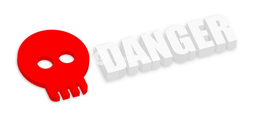 3d Danger Skull