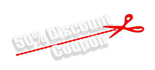 3d Fifty Percent Discount Coupon