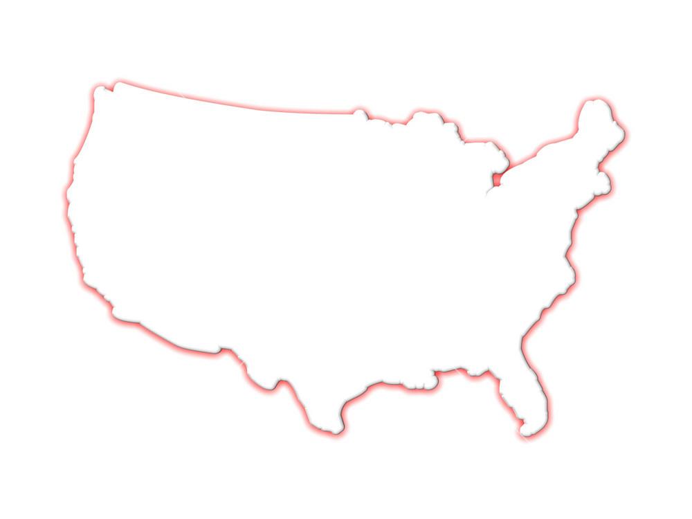 3d Usa Map Contour