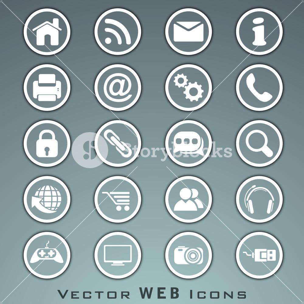 3d Web  Mail Icons Set
