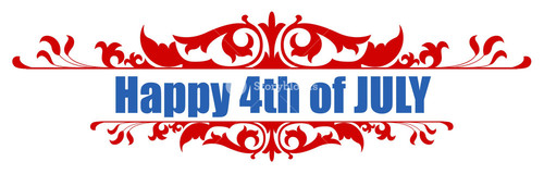 4th Of July Vector Greeting Text