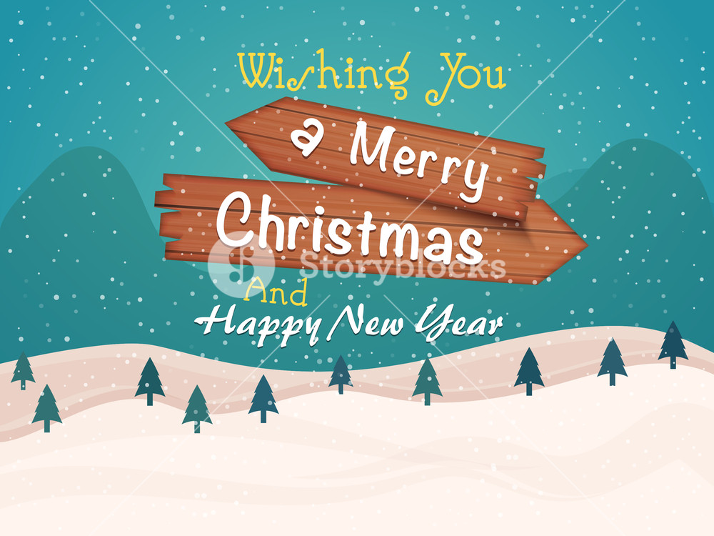 Merry Christmas And Happy New Year Celebrations Greeting Card Design With Creative Winter Background Royalty Free Stock Image Storyblocks