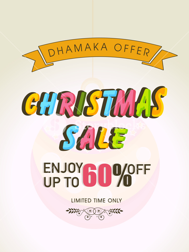 Sale upto 60% off poster