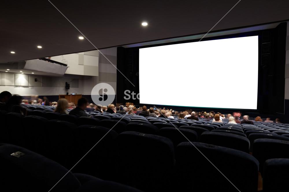 Cinema auditorium with people