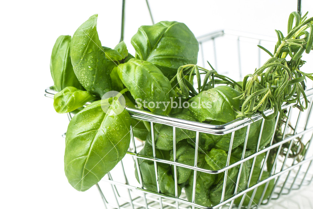 Food Basket Of Herbs