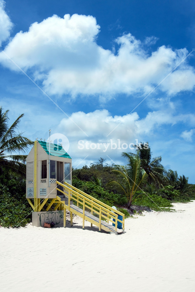 Flamenco Beach Lifeguard Tower