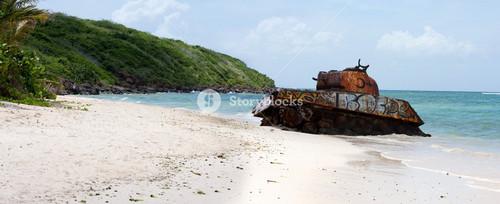 Flamenco Beach Army Tank