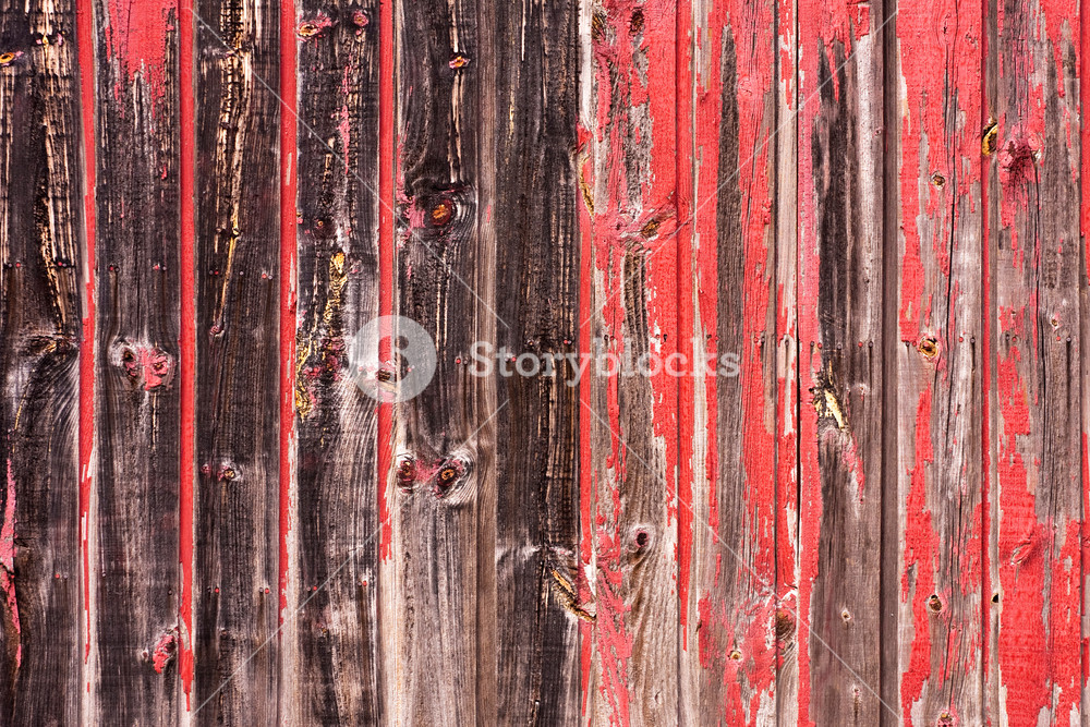 Red Painted Wood Paneling