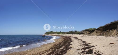 Block Island Beach Panoramic View