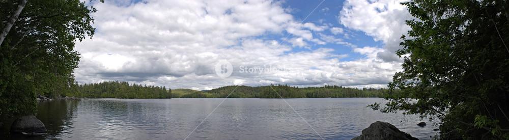 Lower Saranac Lake Panorama