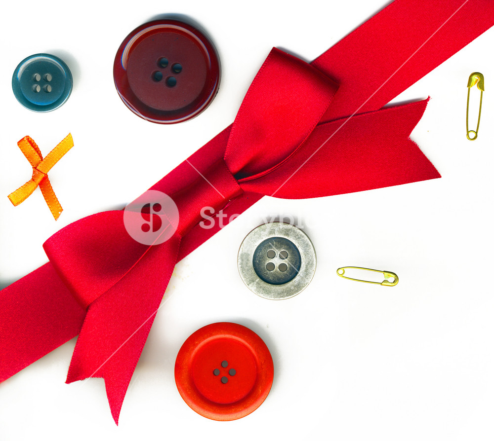 A Christmas Bow In A Retro Style